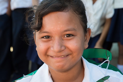 Portrait of a schoolgirl at Escuela Isonlina Torres de Zavala
