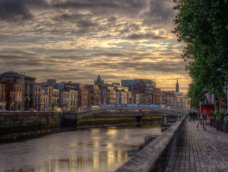 Sunset on the River Liffey