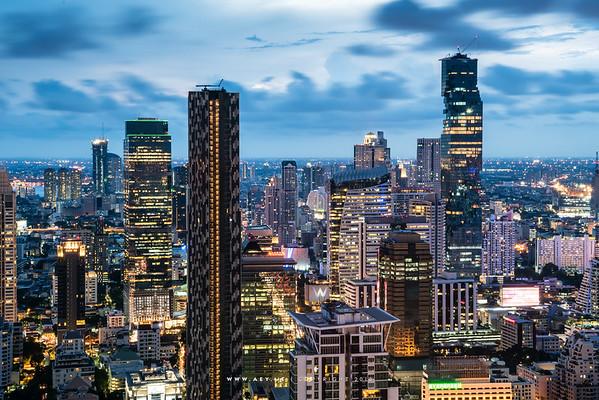 Bangkok view from Vertigo & Moon Bar at Banyan Tree Bangkok Hotel