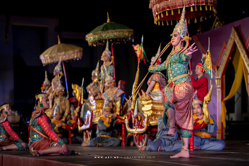 """Khon performance: """"The Bow Lifting Ceremony"""""""
