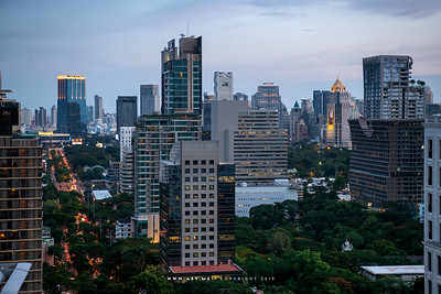 Cityscape of Bangkok view from The Okura Prestige Bangkok