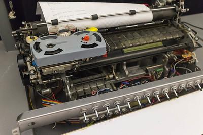 Selectric typewriter mechanism on Carl's IBM1130 emulator