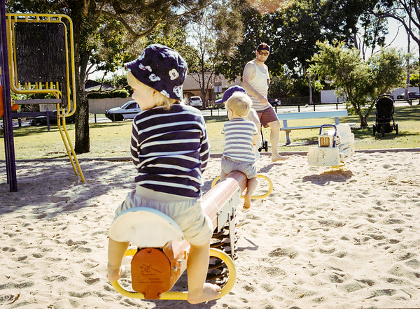 Fun at the park with Sam and Tom