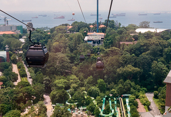 Cable car station at Sentosa