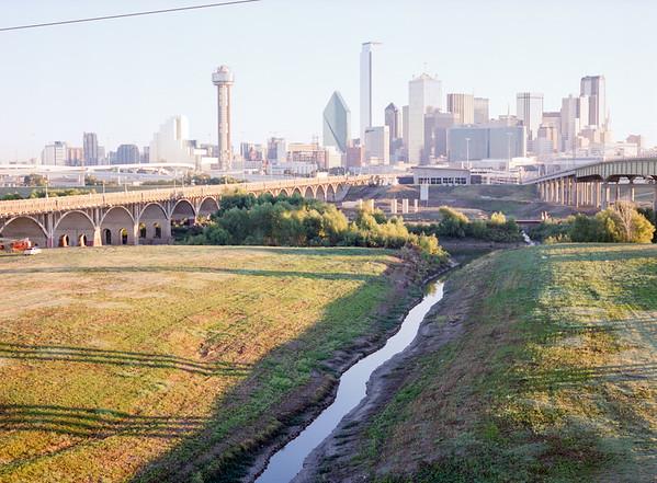 Trinity River bed toward Dallas