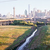 Trinity River bed toward Dallas