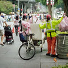 Veolia and pink bags | Orchard Road | June 2016