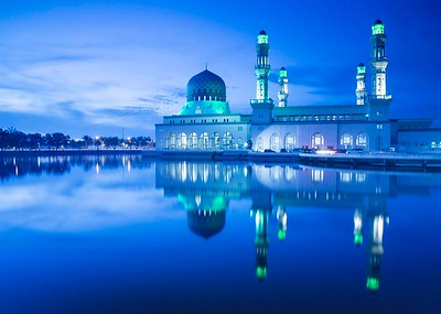 Blue Hour Reflections in Borneo