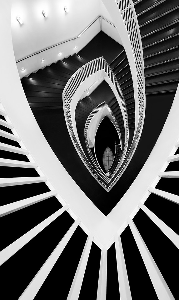Architectural Abstract: Descent