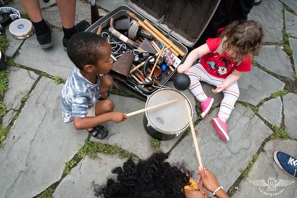 Woodstock Community Drumming on Village Green