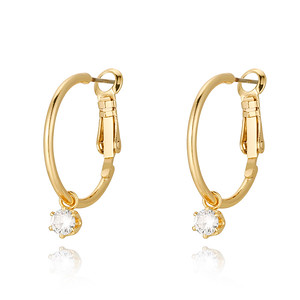 Crystal hoop, Gold