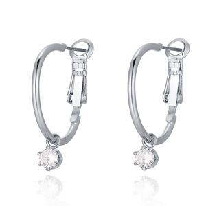 Crystal hoop, Silver