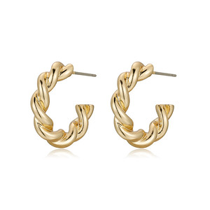 Twist earring, Gold