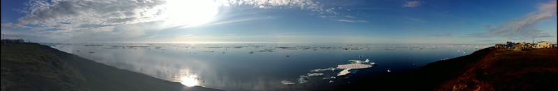 Panaromic shot of the Arctic Ocean in Barrow, Alaska.