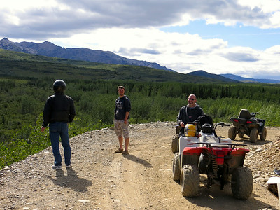 On our first day in Denali, we took a 4-hour ATV trip over some pretty amazing terrain to see parts of the park that few people ever do (but lots of moose and bears do!).
