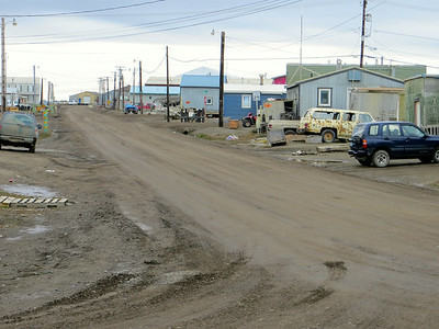 This is what the edge of the world looks like. Barrow, Alaska -- the northern most point of the North America continent on the Arctic Ocean. Pretty desolate place.