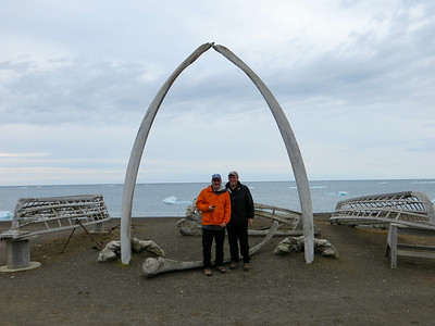 Whale bones, an enduring symbol of Barrow and also a reminder of just how big they are. Yikes!