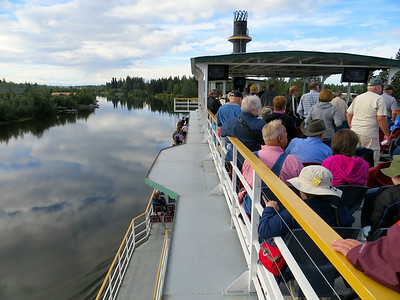 Riverboat cruise along the Chena River in Fairbanks.