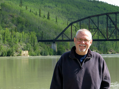 At the Tanana River in central Alaska, near Denali National Park.
