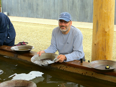 Panning for gold. Absolutely a lot harder than it either looks or sounds.