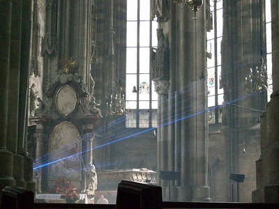 Inside Stephansdomkirche in Vienna.