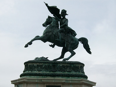 Statue of Emperor Joseph II at the Hofburg Complex in Vienna.