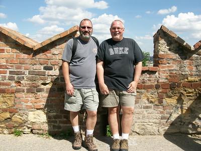 Joe and Ed in Prague Castle.
