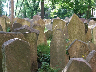The Old Jewish Cemetery in Prague was established in 1478. Once the only burial place permitted to Jews, there are an estimated 100,000 people buried on top of each other, up to 12 levels deep.