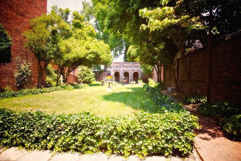 Courtyard of the Museum of Edgar Allan Poe