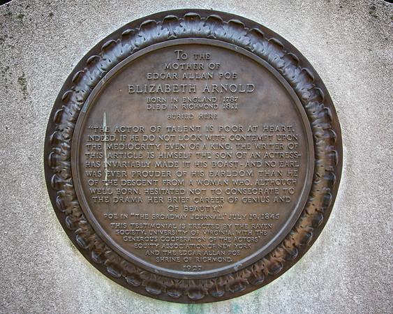 Tombstone of Elizabeth Arnold Poe