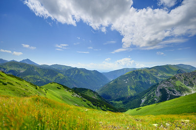 Mountain valley, looking to Slovakia from Poland.