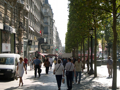 The Champs-Elysees.
