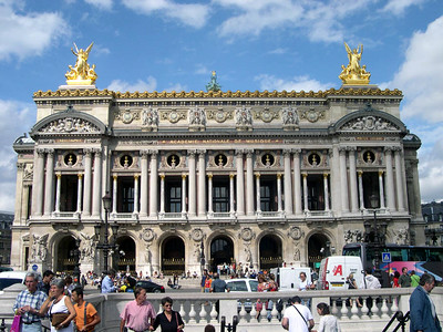 Opera de Paris Garnier (The Paris Opera House, AD 1862), setting for the famous Phantom of the Opera.