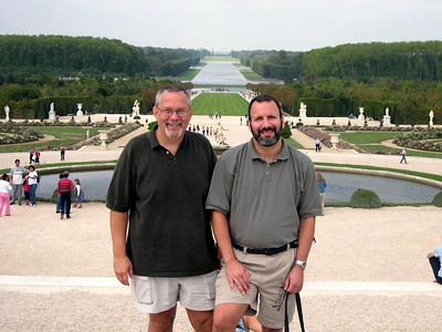 Ed (left) and Joe (right) with the Gardens of Versailles behind us.
