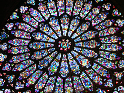 The South Rose Window in Notre Dame.