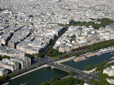 The city of Paris, from the top of the Eiffel Tower.
