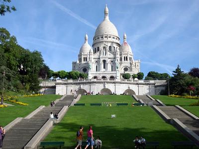 Sacre-Couer in (Montmarte) Paris, France.