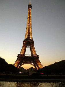 We ended up at the Eiffel Tower on our first night in Paris.