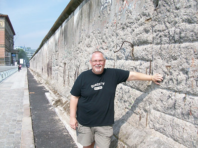 Ed at the Berlin Wall.