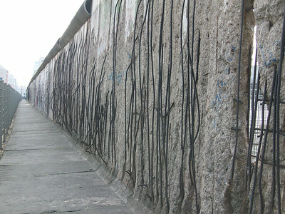 One of the few remaining sections of the Berlin Wall, located adjacent to the buildings that were headquarters for the Third Reich, the Gestapo and the SS.