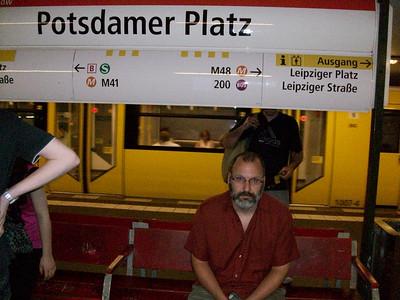 Riding the Metro in Berlin.