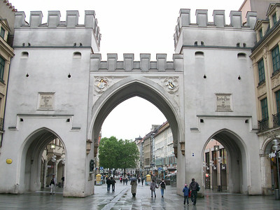 Karlstor, the west entrance to the old town in Munich.