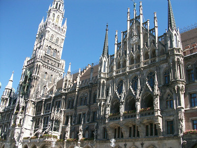Neues Rathaus (Town Hall) in Munich.