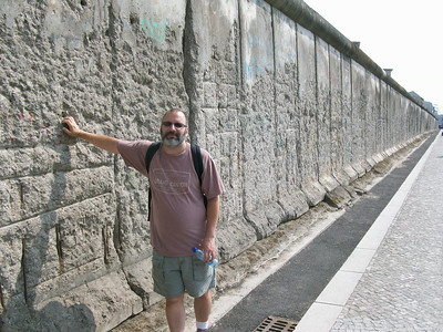 Joe at the Berlin Wall.