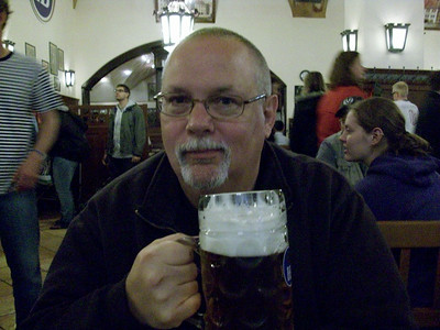 First night in Munich means a quick stop at the Hofbrauhaus before dinner.