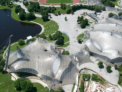 The Aquatic Center in Olympiapark, site of the 1972 Summer Olympics.