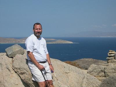 Joe on the island of Delos.