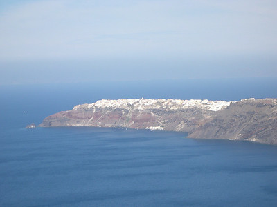 The town of Oia at the tip of the crescent-shaped island of Santorini. We tried hiking the path along the volcano but gave up after about 4 miles in the mid-day heat.
