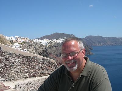 Ed in Santorini.