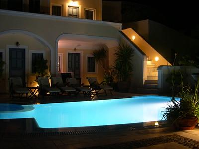 The beautiful Hotel Anteliz in the evening.